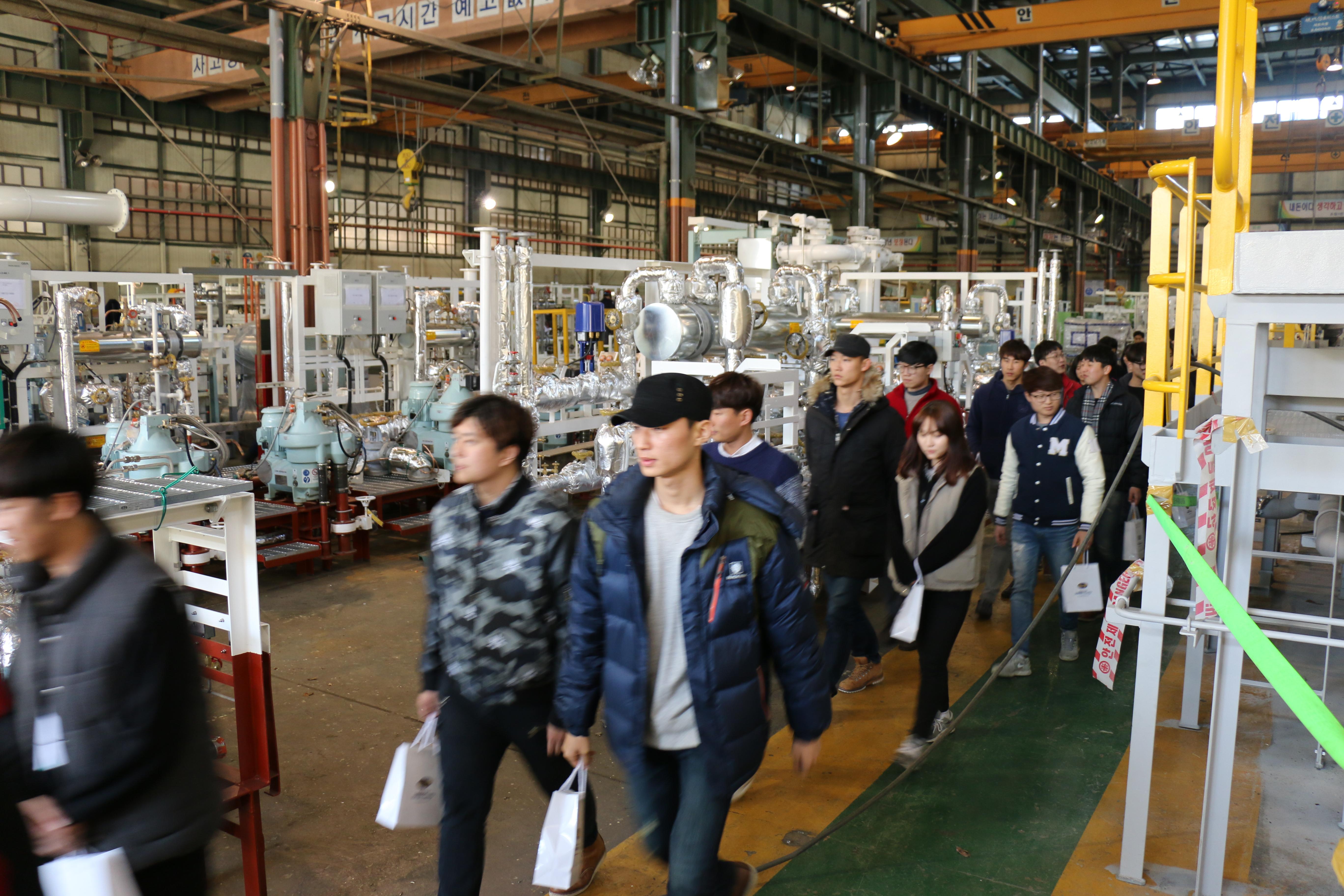 삼성중공업 방문