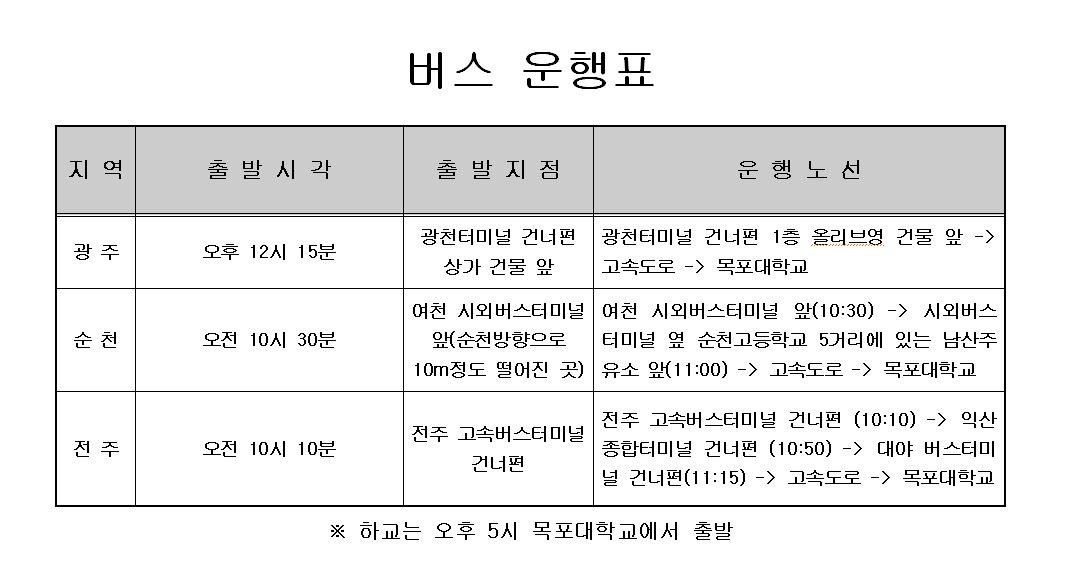 2018 정보보호영재교육원 입학식 버스운행 안내(수정)