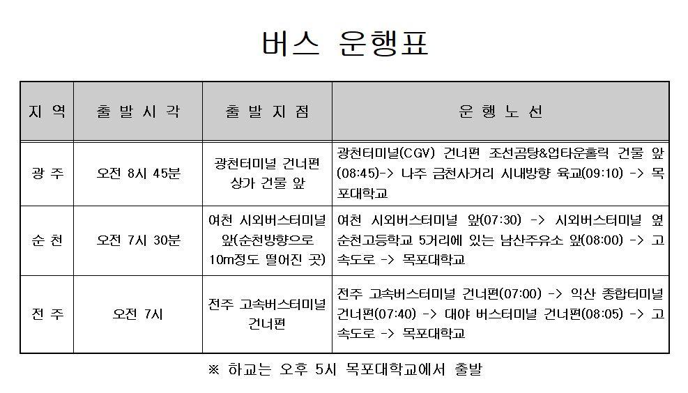 (2018.5.21)광주&나주 버스시간 변경 안내