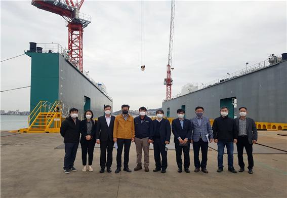 목포대 중소형선박진수지원센터에 산업통상자원부 김현철 지역경제정책관 방문