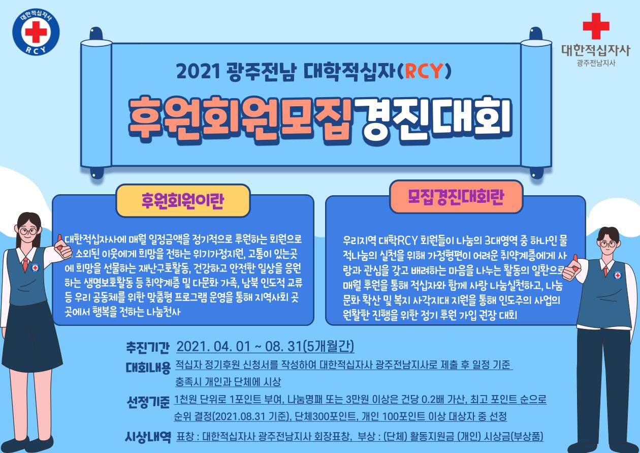 「2021년 대학RCY 후원회원모집경진대회」