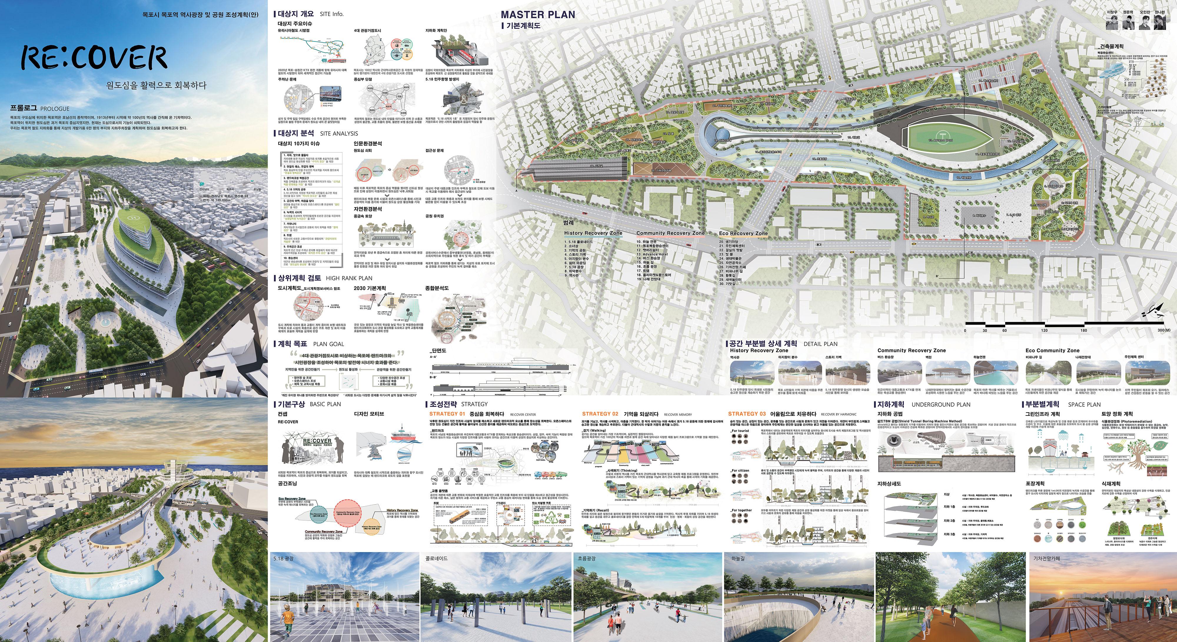 2021학년도 졸업작품(목포시 목포역 역사광장 및 공원 조성계획)